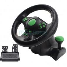 Игровой руль с педалями 3в1 Vibration Steering Wheel для PS3/PS2/PC