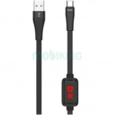 USB Cable Hoco S4 Type-C Black 1m (with display)