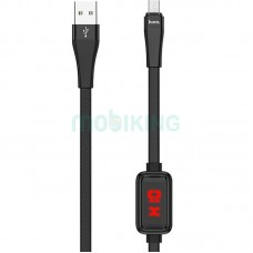 USB Cable Hoco S4 MicroUSB Black 1m (with display)