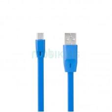 USB Cable Optima Flat Speed MicroUSB (C-014) Blue