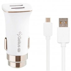 АЗУ Gelius Pro Apollo GP-CC01 2USB 3.1A + Cable Type-C White