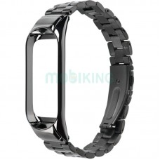 Black Metal WatchBand Mi Band 3 Black