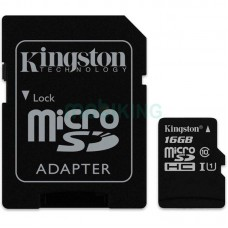 Карта памяти microSDHC 16Gb KIngston Canvas Select (UHS-1) (R-80Mb/s) + Adapter SD