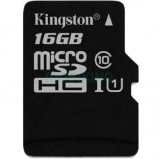 Карта памяти microSDHC 16Gb KIngston Canvas Select (UHS-1) (R-80Mb/s)