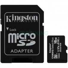 Карта памяти microSDHC 16Gb KIngston Canvas Select Plus A1 (UHS-1) (R-100Mb/s) + Adapter SD
