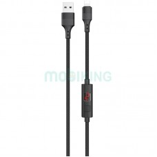 USB Cable Hoco S13 Central control iPhone X Black 1m (with display timer)