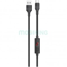USB Cable Hoco S13 Central control Type-C Black 1m (with display timer)