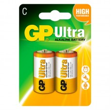 Батарейка LR-14 (C) GP Ultra (14AU-U2) (2шт на блистере)