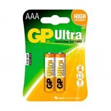 Батарейка AAA (LR-3) GP Ultra (24AU-U2) (2шт на блистере)