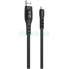 USB Cable Hoco S6 Sentinel MicroUSB Black 1m (with display)