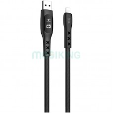 USB Cable Hoco S6 Sentinel iPhone 8 Black 1m (with display)