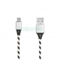 USB Cable Economic Plexus MicroUSB Black/Silver