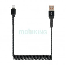 USB Cable Economic Spring 2A iPhone 6 Black
