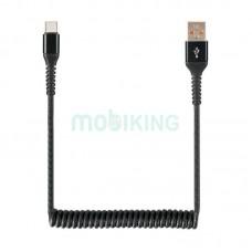 USB Cable Economic Spring 2A Type-C Black