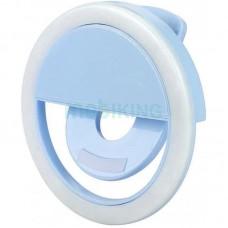 Selfie Ring LED Light for Smartphone RK12 Blue