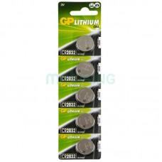 Батарейка Lithium CR2032 GP (CR2032-U5) (5шт на блистере)