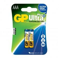 Батарейка AAA (LR-3) GP Ultra Plus (24AUP-U2) (2шт на блистере)