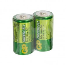 Батарейка LR-20 (D) GP Greencell (13G-S2) (Солевая) (2шт техника)