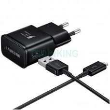СЗУ USB Original Quality Samsung + cable MicroUSB 1A Black (S90)