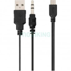 USB Cable MicroUSB/3.5mm