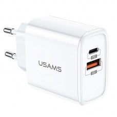 СЗУ 1USB Usams T15 QC3.0+Type-C (3.2A) White (US-CC070)