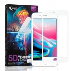 Защитное стекло Krazi 5D for iPhone 7 Plus/8 Plus White