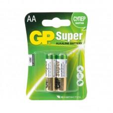 Батарейка AA (LR-6) GP Super (15A-U2) (2шт на блистере)