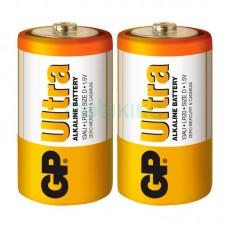 Батарейка LR-20 (D) GP Ultra (13AU-U2) (2шт на блистере)