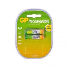 Аккумуляторная батарейка AAA (R-3) GP 800 mAh (80AAAHC-U2) (2шт на блистере)