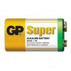Батарейка 6LR61 GP Super 9v (1604A-S1) (Крона) (техника)