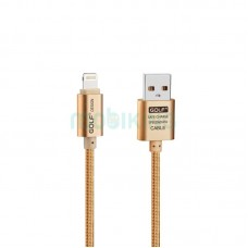 USB Cable Golf Metal iPhone 6 Gold (GC-10i)