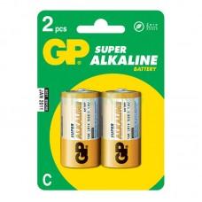 Батарейка LR-14 (C) GP Super (14A-U2) (2шт на блистере)